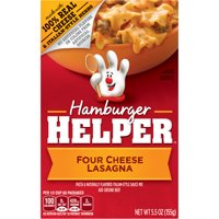 Hamburger Helper Four Cheese Lasagna Hamburger Helper 5.5 Oz