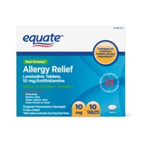 Equate Loratadine Tablets 10 mg, Allergy Relief, 10 Count