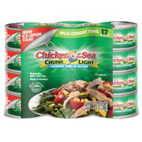 Chicken Of The Sea Chunk Light Tuna in Water, 12 x 7 oz