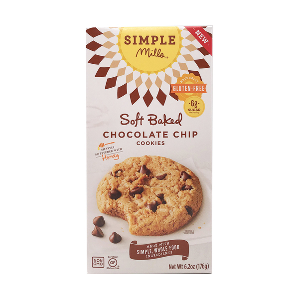 Simple mills Soft Baked Chocolate Chip Cookie, 6.2 oz