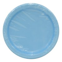 "7"" Paper Dessert Plates, Powder Blue, 24ct"