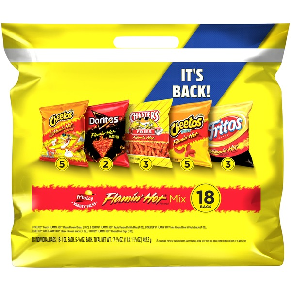 Frito Lay's Flamin' Hot Mix Variety Snacks