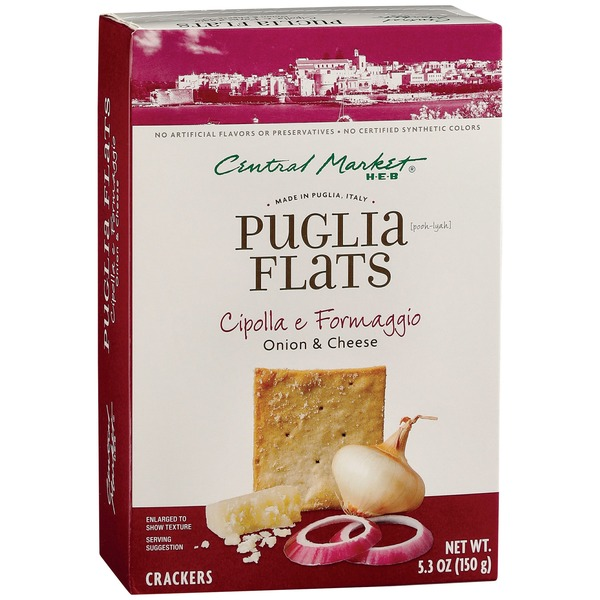 Central Market Onion & Cheese Puglia Flats