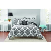 Mainstays Global Damask Bed in a Bag Coordinated Bedding