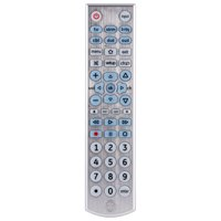 GE 6-Device Universal Remote Control, Backlit, Silver, 33712