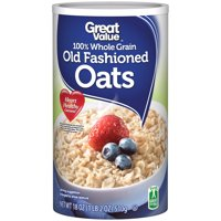 Great Value 100% Whole Grain Old Fashioned Oats, 18 oz