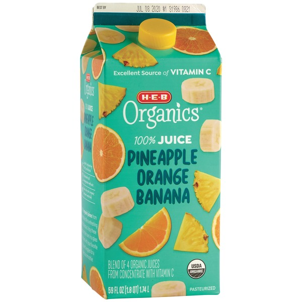 H-E-B Organics Pineapple Orange Banana Juice