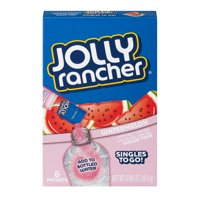 Jolly Rancher Singles To Go! Low Calorie Sugar-Free Watermelon Drink Mix, 0.66 Oz., 6 Count