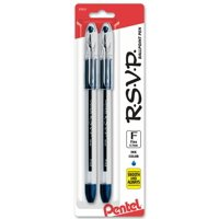 RSVP Ballpoint Pen, (0.7mm) Fine Line, Blue Ink 2-Pk