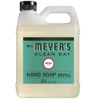 Mrs. Meyer's Basil Scented Liquid Hand Soap Refill - 33 fl oz