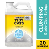 Purina Tidy Cats Clumping Cat Litter, Glade Clear Springs Multi Cat Litter - 20 lb. Jug