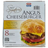 Pierre Signatures Angus Cheeseburger, 8 x 6.2 oz