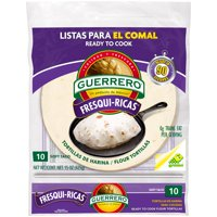 Guerrero Fresqui-Ricas Ready to Cook Soft Taco Flour Tortillas, 10 Count
