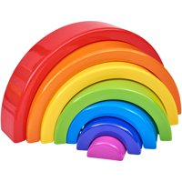 Spark. Create. Imagine. 7-Piece Rainbow Stacker Building Toy