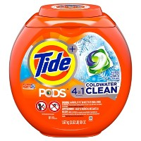 Tide PODS Coldwater Clean Laundry Detergent Pacs - 61ct