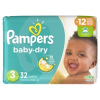 Pampers Baby-Dry Extra Protection Diapers, Size 3, 32 Ct
