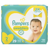 Pampers Swaddlers Soft and Absorbent Diapers, Size 2, 29 Ct