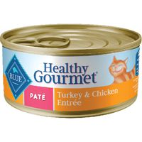Blue Food for Cats, Natural, Pate, Turkey & Chicken Entree