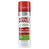 Nature's Miracle Dog Stain & Odor Remover Foam with Enzymatic Formula, 17.5 oz