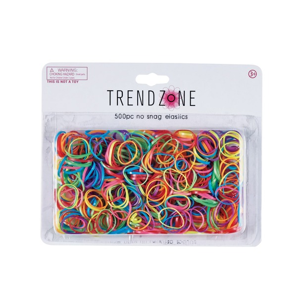 Trend Zone Brite No Snag Multicolor Elastics