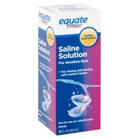 Equate Sensitive Eyes Saline Solution, 12 oz