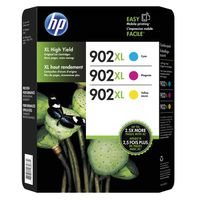 HP 902XL High Yield Color Combo Ink Cartridges, 3 ct
