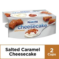 Philadelphia Salted Caramel Cheesecake Cups, 2 ct - 3.25 oz Cups