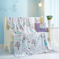 Woodlands Plush Pillow & Throw Combo for Kids by Your Zone