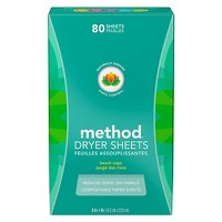 Method Beach Sage Dryer Sheets - 80 ct
