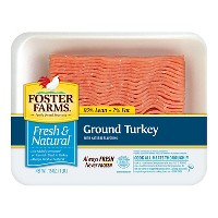 Foster Farms Fresh and Natural 93/7 Ground Turkey - 16oz