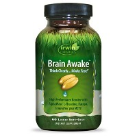 irwin naturals Brain Awake Dietary Supplement Liquid Soft-Gels - 60ct