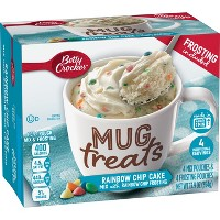 Betty Crocker Mug Treats Rainbow Chip Cake Mix - 4ct/13.9oz