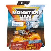 Monster Jam, Fire & Ice Mohawk Warrior Monster Truck, Die-Cast Vehicle, Walmart Exclusive, 1:64 Scale