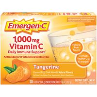 Emergen-C 1,000mg Vitamin C Tangerine Drink Mix Dietary Supplement