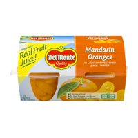Del Monte Mandarin Oranges in Light Syrup, 4 oz Cup, 4 Count Box
