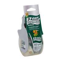 Duck EZ Start Packing Tape with One-Handed Dispenser, 1.88 in. x 50 yd., Clear, 1-Count