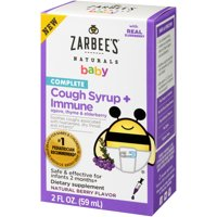 Zarbee's Naturals Complete Baby Cough Syrup + Immune with Agave, Thyme & Elderberry, 2 Fl. Ounces (1 Box)