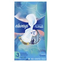 Always Infinity Extra Heavy Pads with Wings, Unscented, Size 3, 28 ct