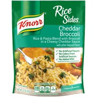 Knorr Rice Side Dish For Rich, Savoury Flavor Cheddar Broccoli No Artificial Preservatives 5.7 Oz