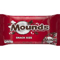 Mounds Candy Bar, Dark Chocolate & Coconut, Snack Size