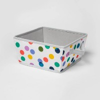 Canvas Bin With Dots White - Pillowfort™