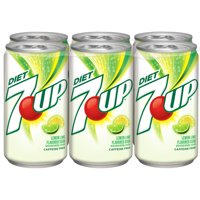 7UP Diet Caffeine-Free Lemon Lime Flavored Soda, 7.5 Fl. Oz., 6 Count