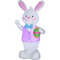 Ways to Celebrate Airblown Inflatable Bunny with Easter Egg 7'