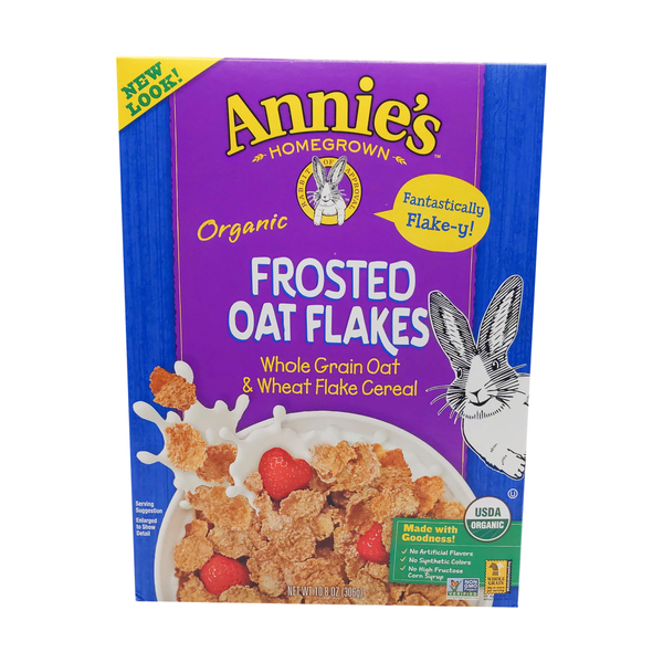 Annie's homegrown Organic Frosted Oat Flakes, 10.8 oz