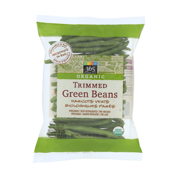 365 everyday value® Organic Trimmed Green Beans, 12 oz