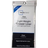 Mainstays Light Weight Clear Shower Liner, 1 Each
