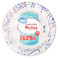 """Great Value Everyday Paper Plates, 8.5"""", 170 Count"""
