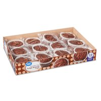 Great Value Chocolate Chip Fudge Brownie Cups, 12 oz, 12 Count