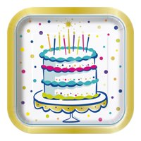 Cake Time Paper Dinner Plates, 9.25in, 8ct
