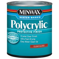 Minwax Polycrylic Clear Gloss Finish, 1 Quart